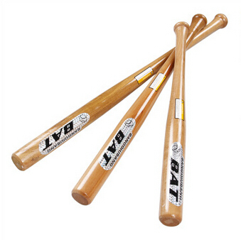 High Quality 25inch 28inch 30inch Wood Baseball Bat Wooden Softball Bat Outdoor Sports Exercise Free Shipping(China (Mainland))