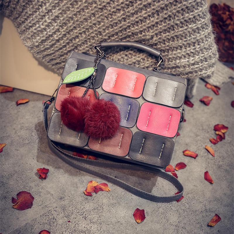 2016 New luxury women designer handbags high quality brand louie European American fashion stitching toy ball Tote chaneel bag<br><br>Aliexpress