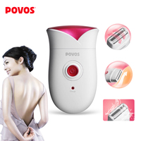 Free shipping PS1088 Fully washable Single Blade Reciprocating Lady's Body Hair Electric Shaver Epilator US Plug