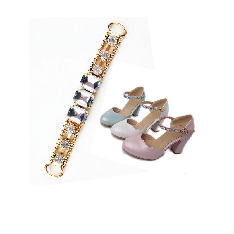 Women leather shoes sandals decoration summer spring leather shoes shoelace  charms shoe decor flower chain accessories 3pcs<br><br>Aliexpress