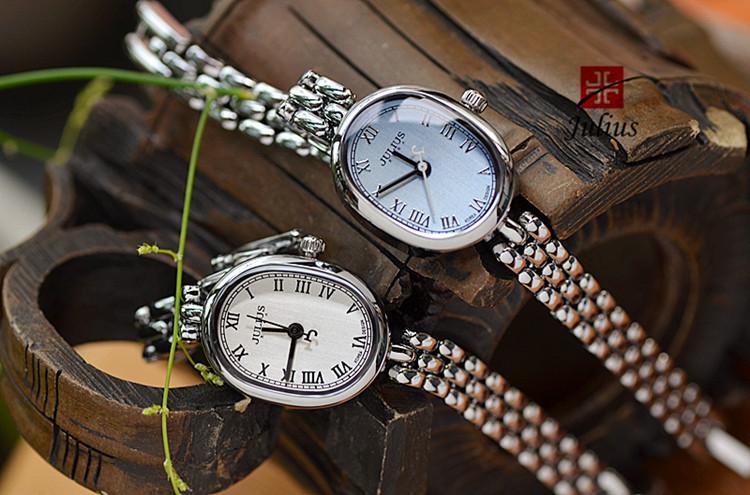 Женская леди наручные часы юлий кварцевых часов лучший мода платье браслет простой пр ретро именинница рождественский подарок 861
