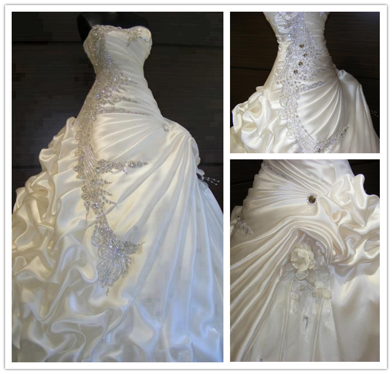 Wedding dresses sweetheart neckline ball gown bling for Diamond sweetheart wedding dress