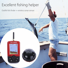 Outlife Smart Portable Depth Fish Finder with 100 M Wireless Sonar Sensor echo sounder Fishfinder for Lake Sea Fishing(China (Mainland))