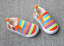 Einlegesohle 13-16.3cm regenbogen kinder schuhe kinder turnschuhe für babys sportschuhe jungen segeltuchschuhe(China (Mainland))