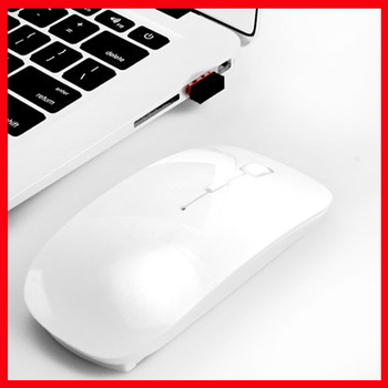 Brand New 2.4GHz USB Wireless Optical Mouse Mice for Apple Mac Macbook Pro Air White