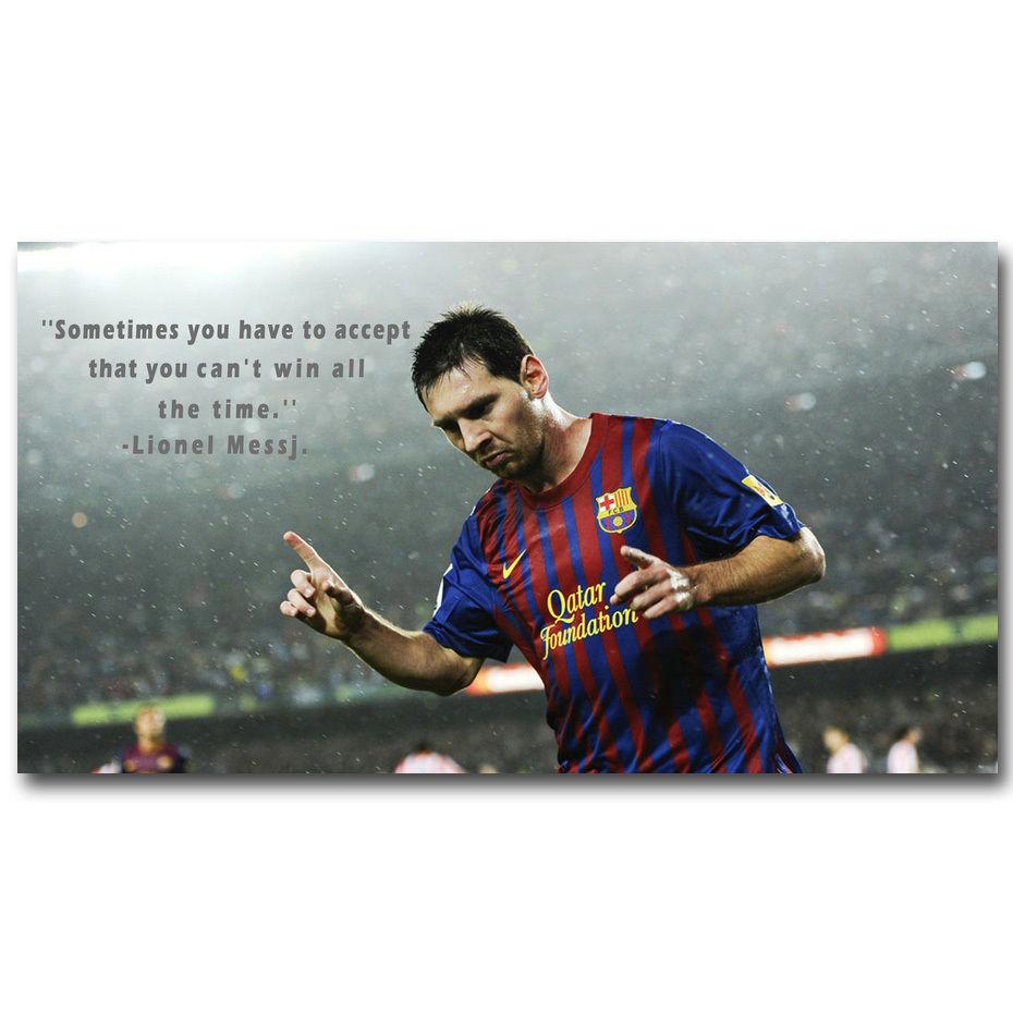 Lionel Messi Motivational Quote FC Barcelona Soccer Art Silk Poster ...