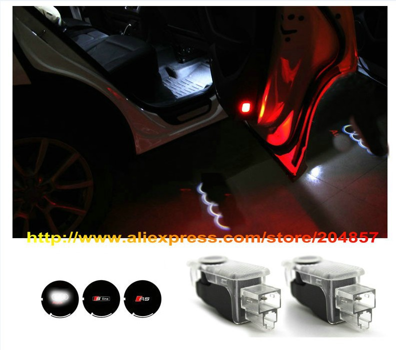 Free Shipping Laser Logo Car Door LED Welcome Lights Door Pattern Light For Audi A6L Q5 A4L A7 A5 Q3 Q7 TT S5<br><br>Aliexpress