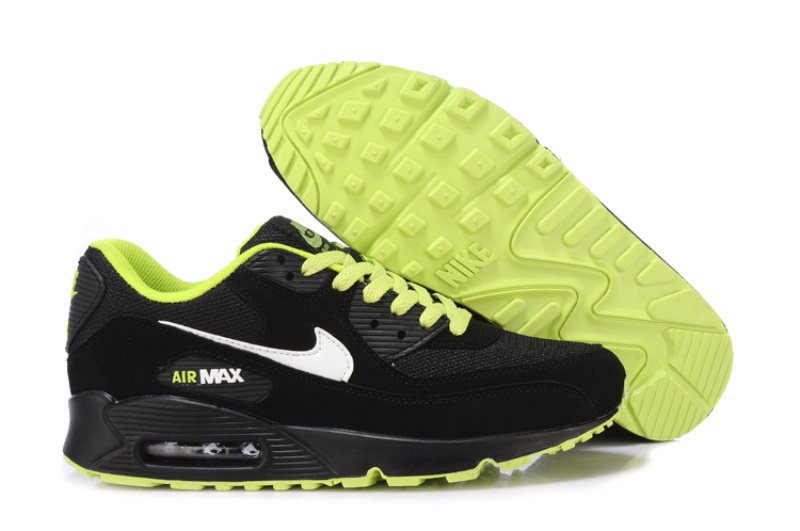 Nike air max 90 black and green