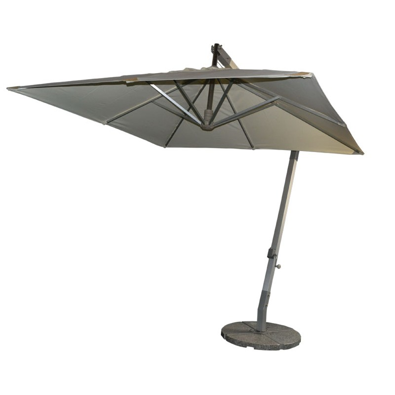 Small square aluminum hanging umbrella celi outdoor patio for Small patio furniture with umbrella