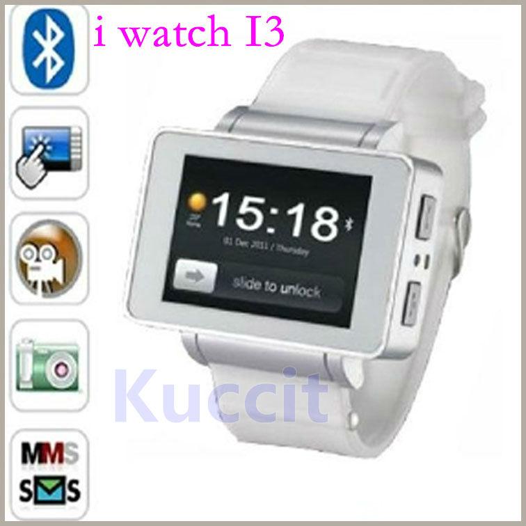 2013 new i3 watch cell phone unlock ultra-thin bluetooth /FM Webcam Java Games e-book MP3/MP4 half smart watch phone(China (Mainland))