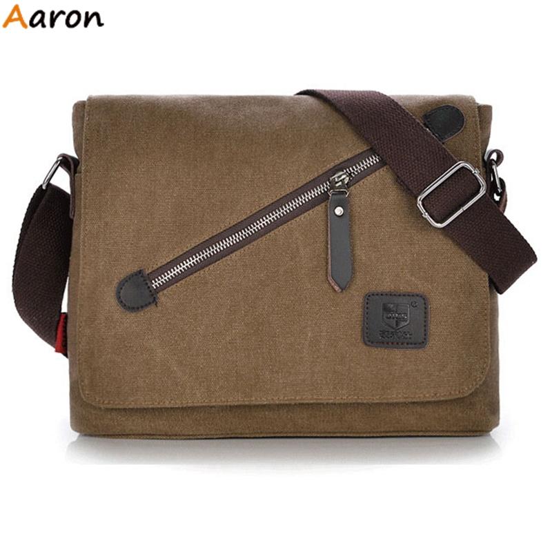 Aaron - Trendy Canvas Flip-open Cover Messenger Bag For Man,Simple Handmade Slanted Zipper Design Male Bolsa,Lightweight Men Bag<br><br>Aliexpress