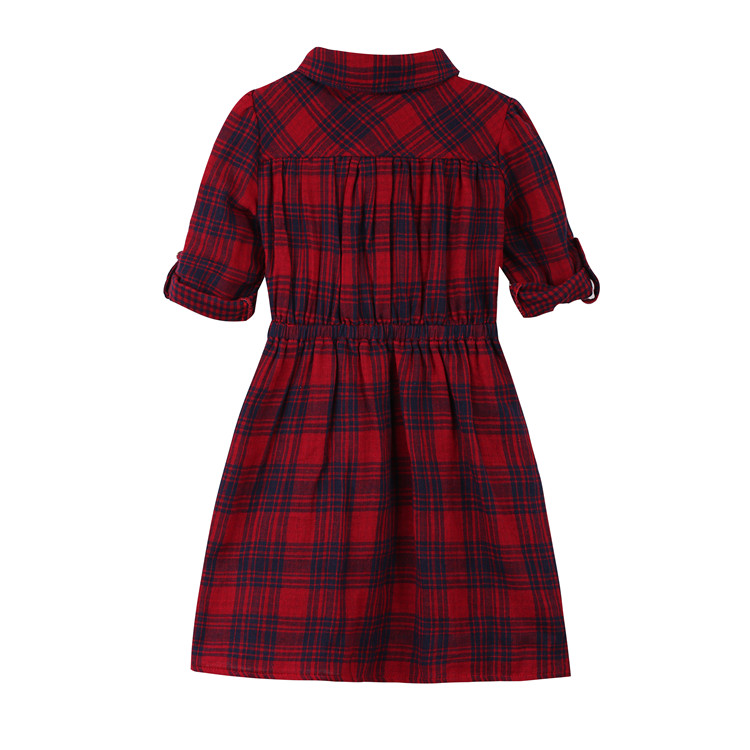 Kids Dress For 2-9 Y 2015 Summer Plaid Cute Dress Toddler Girl Clothes Christmas Gift Dress Princess Costume Children Clothing(China (Mainland))