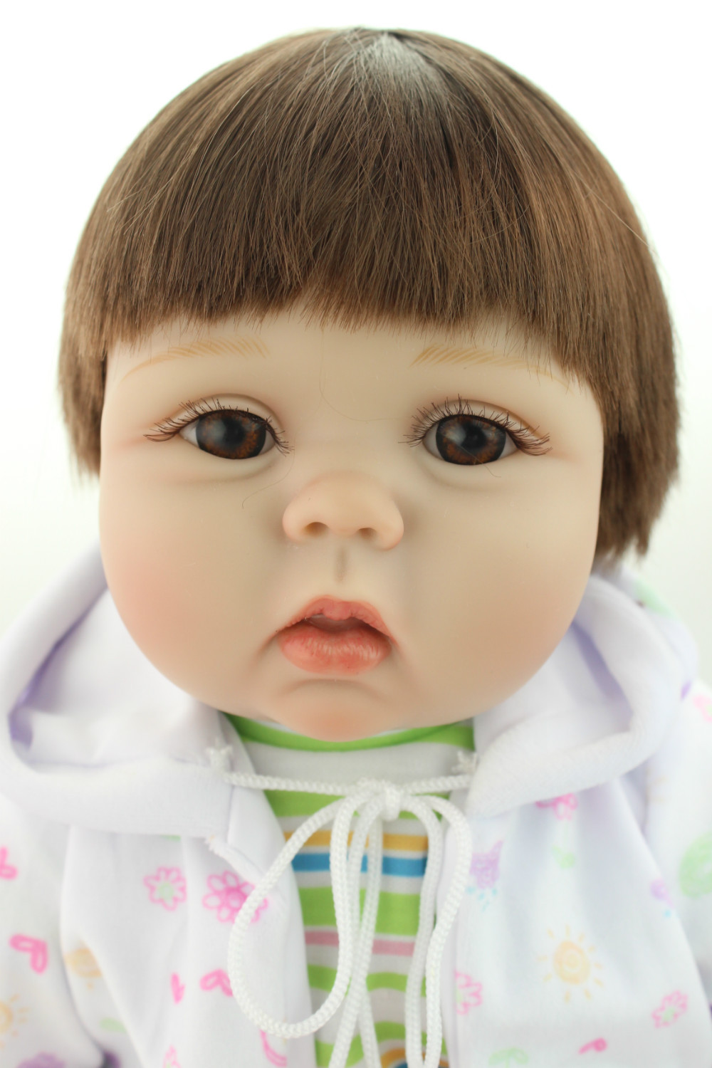 New born baby doll lifelike reborn baby doll rooted human hair fashion doll Childen's Day gift lovely gifts(China (Mainland))