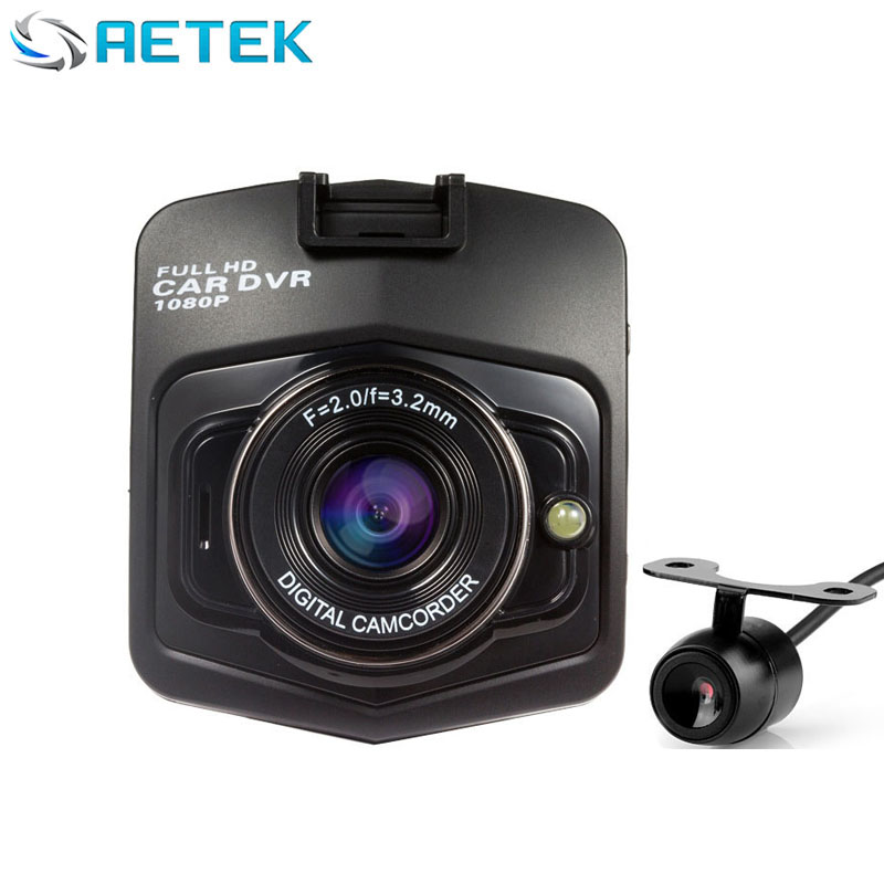 2016 New Novatek 2 lens Car DVR Dual Camera GT300 1080P Video Recorder With Rear View Cameras Night Vision Camcorder BlackBox(China (Mainland))