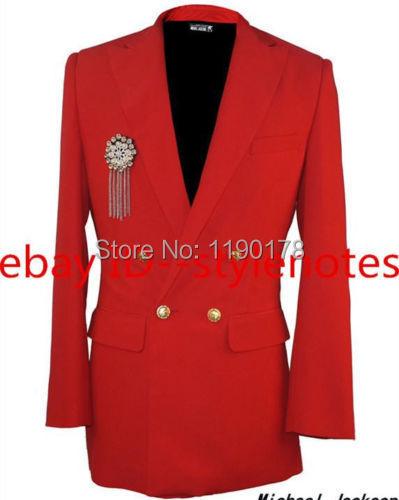 michael jackson red close fitting suit jacket coat pro