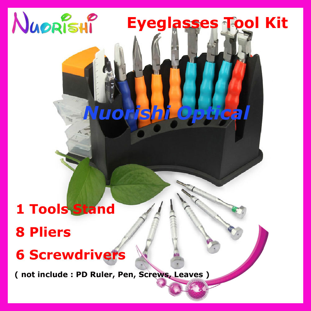 Top Quality Glasses Repairing Tool Kit Set 8 Pliers 6 Screwdriver B08AC Free ShippingОдежда и ак�е��уары<br><br><br>Aliexpress