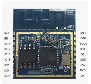 Здесь можно купить  100pcs lot SMD ESP8266 Wifi module+free shipping  Электронные компоненты и материалы