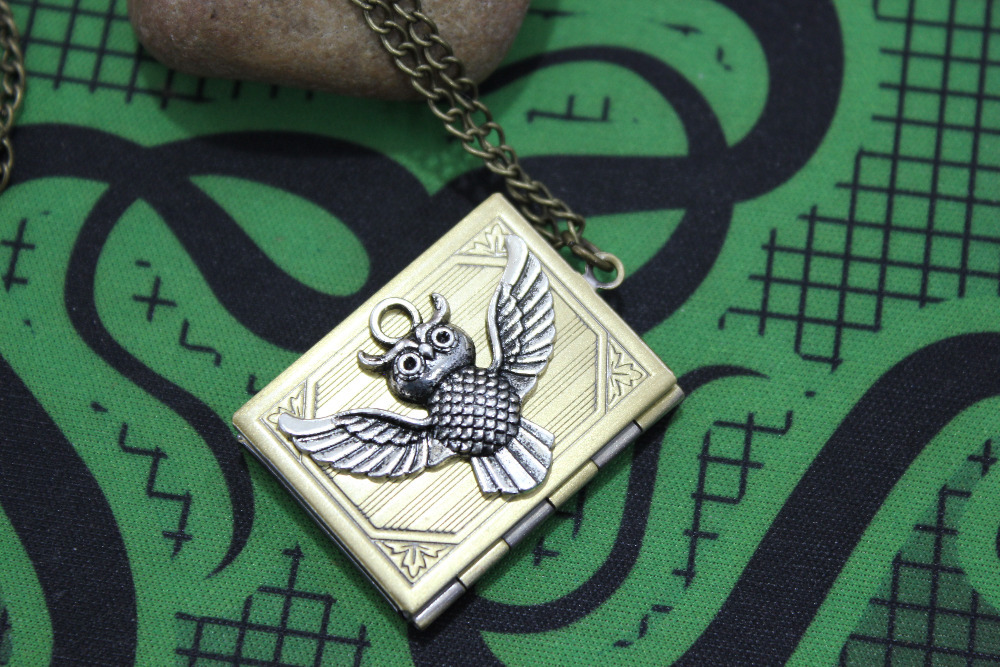 Selling the classic silver steampunk owl locket watch necklace mens necklace<br><br>Aliexpress