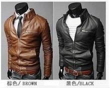 Spring new men's PU Leather leather jacket men  jackets for men jacket coat  3 colors M-3XL COATS-76317(China (Mainland))