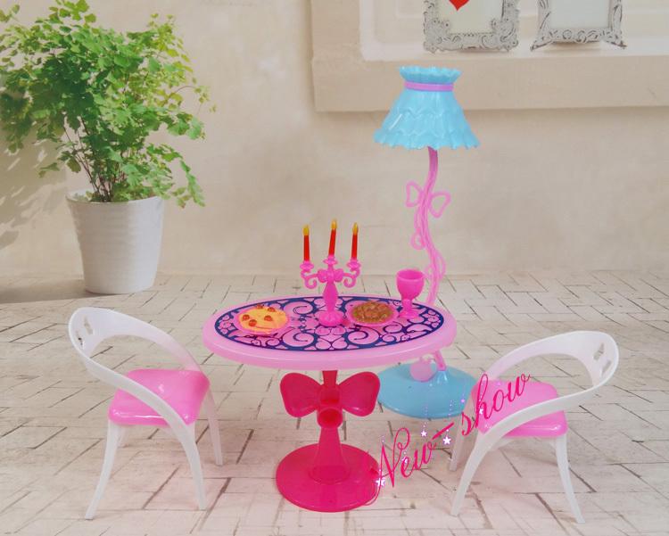 Lamp tafel stoel set/doen alsof spelen poppenhuis meubels eetkamer ...