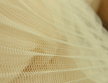 "Buy 5 Meters Width 150cm 59"" apricot Ruffled Pleated Crumple Mesh Lace Fabric Solid for Wedding Dress bubble skirt MM135 for $21.29 in AliExpress store"