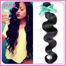 Али мода для волос натуральный несравненный перуанский волна человеческие волосы мокрые и волнистые 6а перуанский девы теле 1 пучок