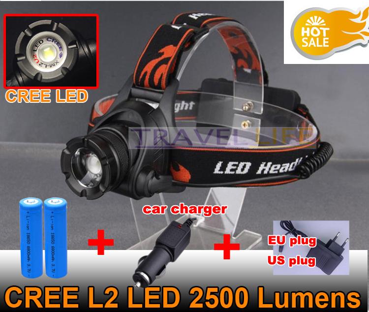 Налобный фонарь CREE L2