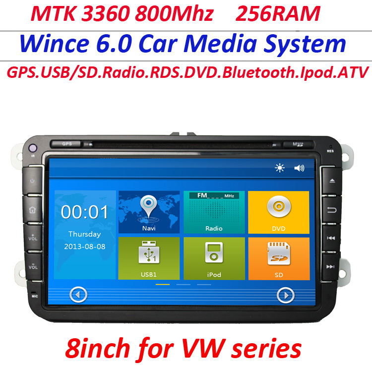 8inch GPS Naviation Car DVD Playe for VW TIGUAN GOLF mk5 POLO PASSAT B6 CC JETTA TOURAN CADDY seat WITH USB SD IPOD Radio car pc(China (Mainland))