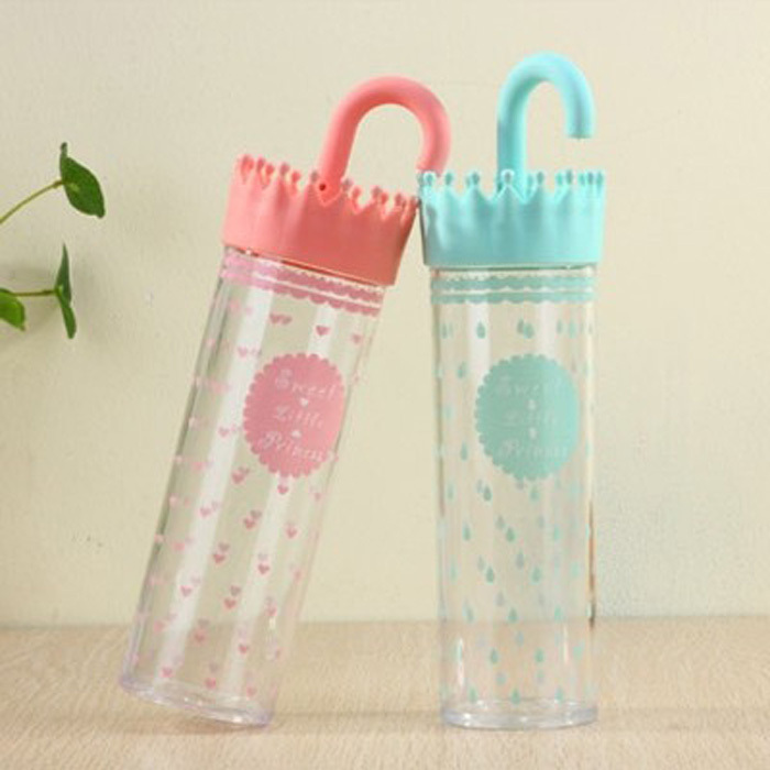 Fun Life Rain Drop Sweet cute princess umbrella zakka water bottle my bottle cup for infantil Sweet little princess AF1004(China (Mainland))