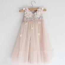 2015 Summer Little Girl Dress Sleeveless Floral Children's Clothing High Waist Casual Girls Dresses
