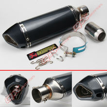 38/48/51mm Modified Motorcycle Exhaust Pipe Muffler TTR YBR YZF RSZ CBR CB400 CF250 CBR600 CBR250 ER6N ER6R YZF600