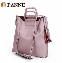 PANNE 2016 New Vintage Women Bag Fashion Large Woman Shoulder Bags Genuine Leather Female Handbag First Layer Cowskin Handbags