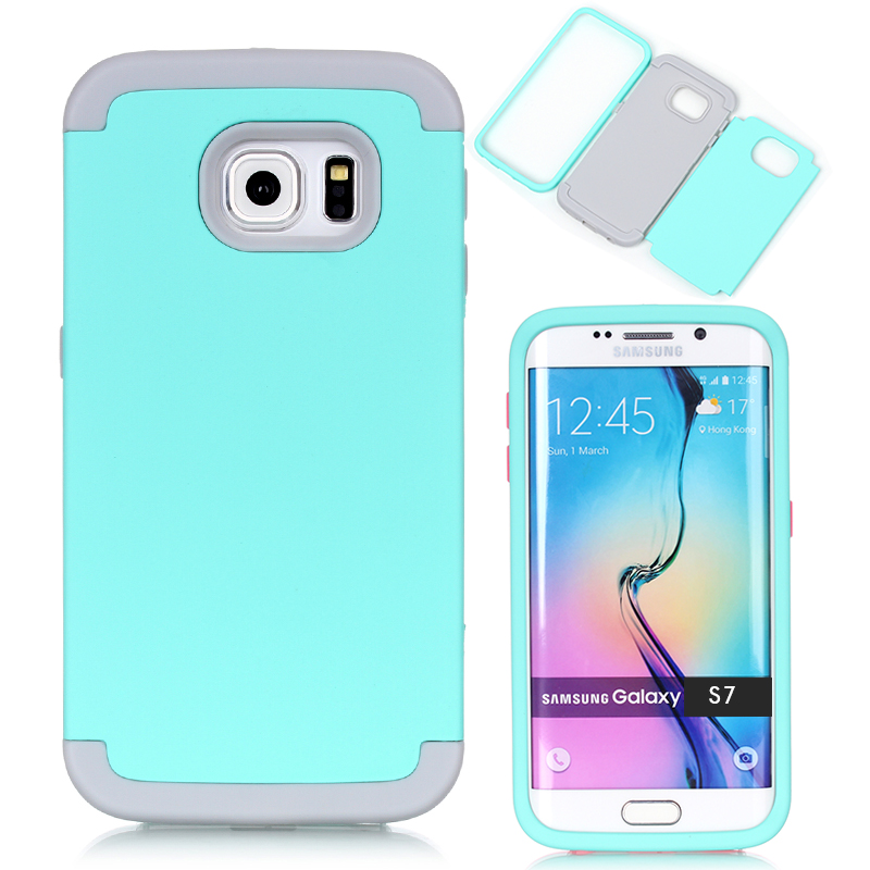 3-in-1 Phone Cases for Samsung Galaxy S7 Impact Hard & Soft Silicone Hybrid Case Armor w/Screen Protector Film+Stylus(China (Mainland))
