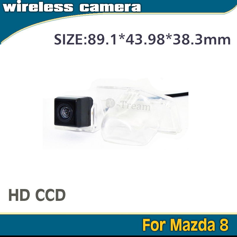 100% HD CCD 170 degrees Car parking rear view wireless camera with 2.4Ghz Receiver and Transmitter for Mazda8 camera(China (Mainland))