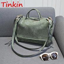 Tinkin Winter-Style Large Women's Frosted Handbag Vintage Women Messenger Bag Moto Bag Fashion Shoulder Bag Lady Crossbody Bag(China (Mainland))