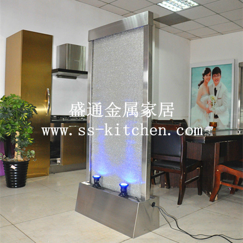 stainless steel water curtain/water fountain /falls/water features/floor - Shengtong metal Products factory store