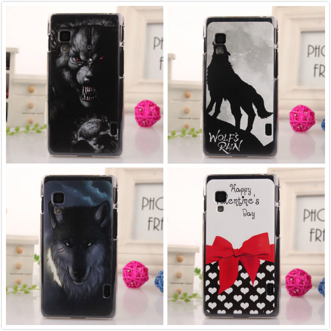 Multi- style selection colored drawing Design Mobile Phone Cover Shell Protection Hard housing Case For LG E460 Optimus L5 II(China (Mainland))