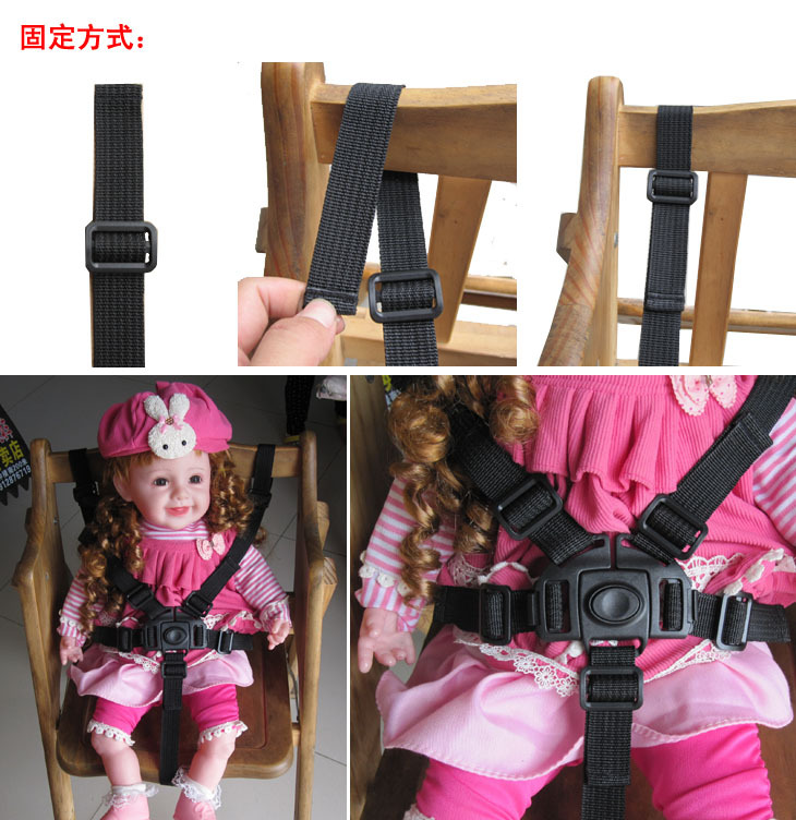 Baby 5 Point Harness Safe Belt Seat Belts For Stroller High Chair Pram Buggy Children Kid Pushchair 360 Rotating Hook(China (Mainland))