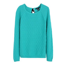 2016 Women Knitting Back String Sweater O-Neck Long Sleeve Loose Warm Wool Pullovers Women Plus Size Tops 70040(China (Mainland))