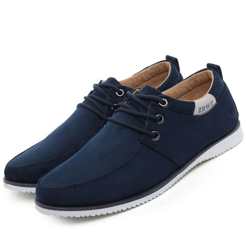 Men Shoes 2015 New Suede Leather Flat Men's Fashion Casual Shoes Solid Male Footwear For Men Zapatos Hombre RMD-132