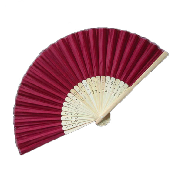 50Pcs Ladies Folding Chinese Hand Fans Wine Red Multicolor Customized Unique Wedding Souvenirs For Guests+Gift Box Organza Bag(China (Mainland))