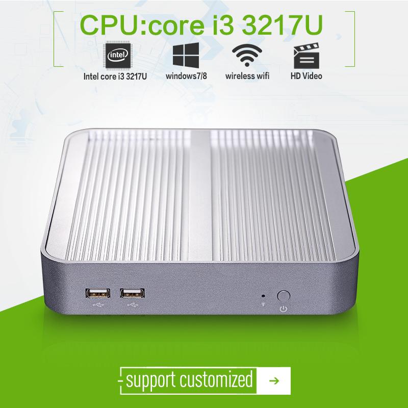 XCY Mini PC dual Core Win7 / Linux Desktop Thin client Mini PCs X-I3 3217UL 2G RAM 64G connect TV box video computer(China (Mainland))