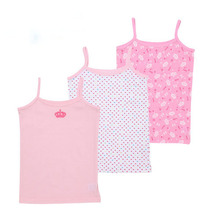 Free Shipping 6 Pieces/Lot 2014 New Style Beautifiul Pink  For Girls tanks No Sleeve All Yearing girls wearing(China (Mainland))