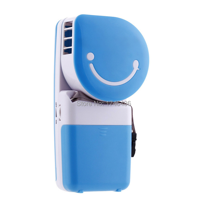 2015 Free shipping portable mini hand battery air conditioner cooling fan handy cooler support wholesale.(China (Mainland))