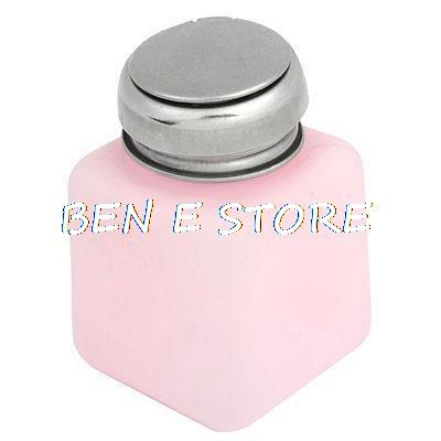 Laboratory Metal Cap Liquid Container Alcohol Bottle 100ml Pink(China (Mainland))