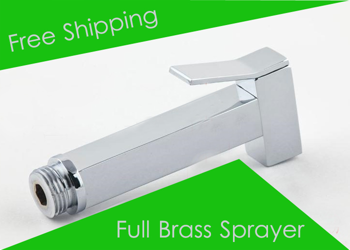 Free Shipping High Quality Copper Hand Sprayer Toilet Shower Bidet Faucet For Women Portable(China (Mainland))