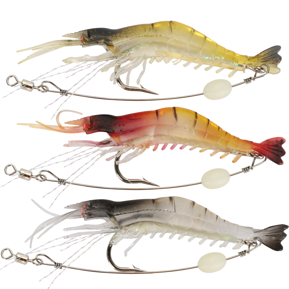 Goture Luminous Shrimp Lure Soft Fishing Bait Isca