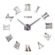 2016 new real Europe home decor wall clock acrylic mirror stickers quartz living room modern clocks watch Needle free shipping(China (Mainland))