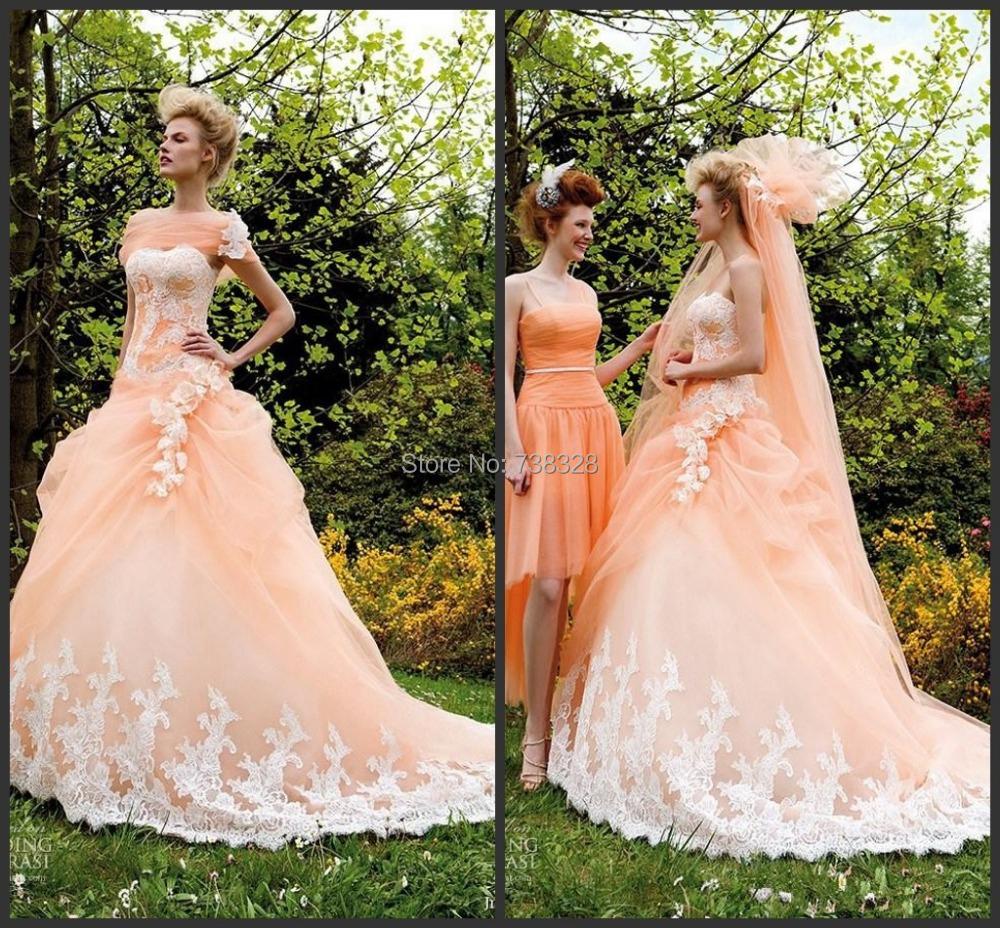 Popular Light Orange Wedding Dresses Buy Cheap Light Orange Wedding Dresses Lots From China