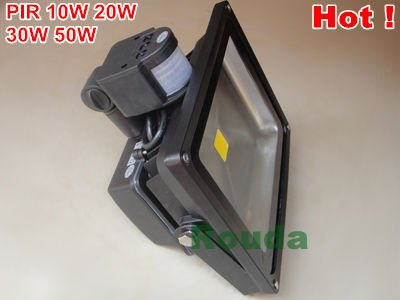 led flood light 50w 10w 20w 30w pir Epistar 110-120lm/w high quality Guarantee 3years CE ROHS led sensor(China (Mainland))